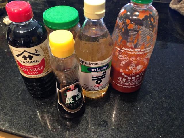 My dipping sauce - a mix of everything.